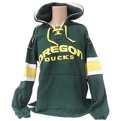 NCAA Oregon Ducks Mens Hockey Hoodie Sweatshirt, Green-Yellow by Donegal Bay