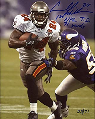 Carnell Williams Tampa Bay Buccaneers Autographed 8'' x 10'' Photograph with 1st TD 71 Yards inscription - Fanatics Authentic Certified