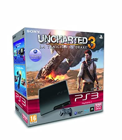 Play Station 3 Consola 320 Gb + Uncharted 3