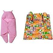 RSO BABY WRAP & BABY BEDDING SET 4 PIECE-COTTON
