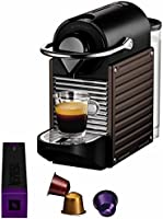 Krups YY1204FD Nespresso Pixie Machine à expresso Marron foncé