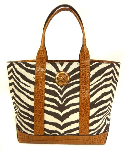 Michael Kors Fulton Canvas Tiger Print Medium Tote