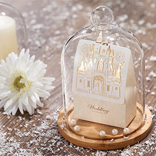 50pcs Gold Castle Shape Candy Box Wedding Favor