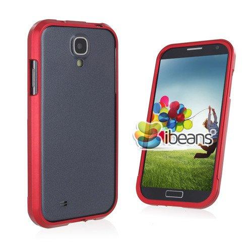 i-Beans(TM) Docomo Samsung Galaxy S4 SC-04E用バンパーケース アルミ素材 メタルバンパー スライド式 Aluminum Bumper Case for Samsung Galaxy SIV(GT-I9500)【全10色】(レッド4779-1)