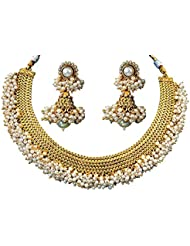 Chirag Jewellery Golden Alloy Contemporary Necklace Set CJGACNS005
