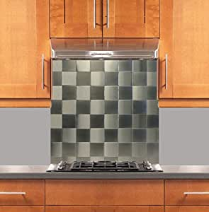 square grid two tone stainless steel backsplash various