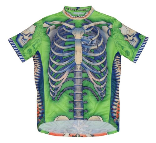 Buy Low Price Primal Wear Bone Collector Skeleton Cycling Jersey Men's Short Sleeve Limited Edition Green (B008LN3NSO)
