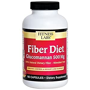Amazon.com: Fitness Labs Fiber Diet Glucomannan 500 Mg
