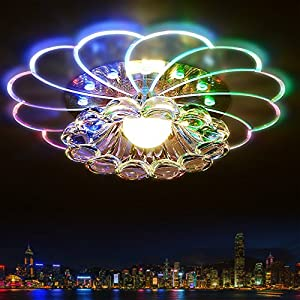 Modern Crystal 5W Colorful LED Ceiling Light Lamp Living room Porch Lighting by Beisaqi