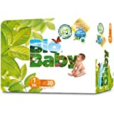 Bio Baby Biodegradable Nappies Size 1 - 2 x Packs of 20 (40 Nappies)