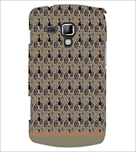 PrintDhaba Cycle Pattern D-1496 Back Case Cover for SAMSUNG GALAXY S DUOS S7562 (Multi-Coloured)
