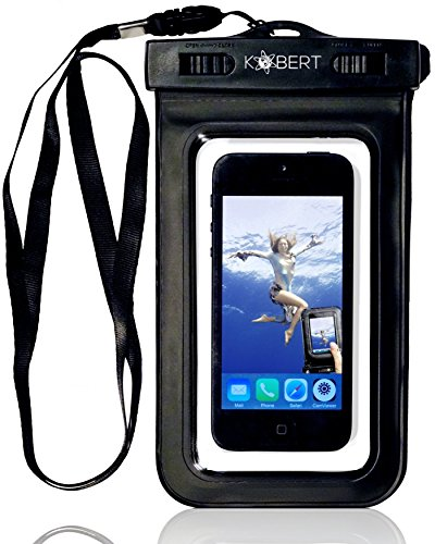 Kobert Waterproof Case Wpc-007 For Iphone 6, 6 Plus, 5S, 5C, 5, 4S, Samsung Galaxy S5, S4, S3 - Incl Stylus - Universal Bag / Pouch For Your Smartphone, Mp3 Player, Ipod, Camera, Note 4, Phone, Note 3, Digital Devices, Cellphone, Gps - Ipx 8 Certified To