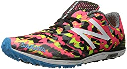 New Balance Women\'s 700v4 Track Spike Running Shoe, Pink/Black, 8 B US