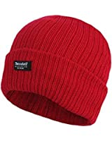 LADIES THINSULATE BEANIE HAT FLEECE LINED WINTER SKI RIB KNITTED CAP 40 GRAM 3 M (6 DIFFERENT COLOURES)