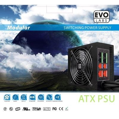 NEW! Evo Labs Silent Modular ATX Power Supply PSU 800W