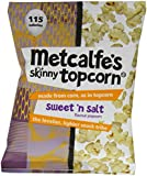 Metcalfe's Skinny Topcorn Sweet-n-Salt 25 g (Pack of 12)