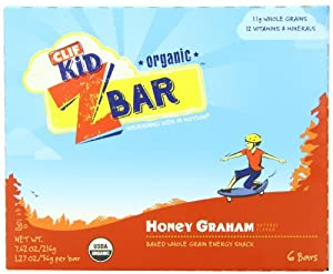 Clif Kid ZBar, Honey Graham, 6 Count