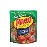 Ragu Fresh & Simple Smooth Pasta Sauce, Traditional Tomato Basil, 13.5-Ounce Pouches (Pack of 6) ~ Ragu
