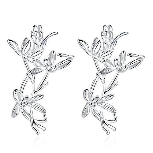 Womens Fashion Plum Flower Stud Earrings Blossom Exquisite Fashion Studs Earring-LanceStore (Plum Blossom Princess Costume)