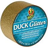 Duck Brand Glitter Crafting Tape, 1.88-Inch x 5-Yard Roll, Gold (283173)
