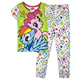 My Little Pony Little Girl's Rainbow Stars 2 Piece Short Sleeve Pajama Set