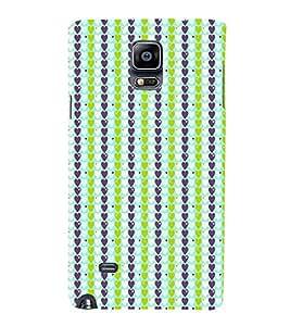 EPICCASE trendy hearts Mobile Back Case Cover For Samsung Galaxy Note 4 (Designer Case)