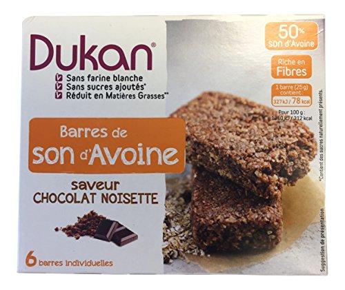Dukan Diet Oat Bran barres au chocolat noisette,