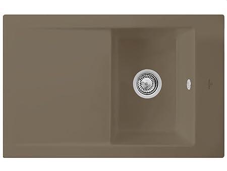 Villeroy & Boch time Line 45 Timber para platillos de cerámica-fregadero marrón de instalación aquasanita