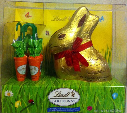 Lindt Chocolate Easter Bunny Gold Foil Wrapped