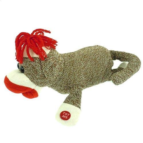 "Rolling Over & Around Moving Animated Sock Monkey 11"" Plush Stuffed Animal at 'Sock Monkeys'"