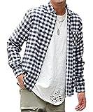 マイノリティセレクト(MinoriTY SELECT) ネルシャツ メンズ チェック ネル シャツ 長袖 赤 黒 S A柄(9)