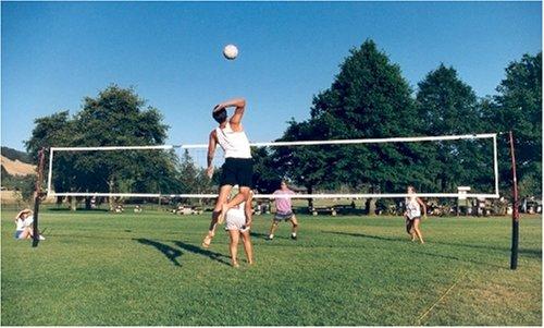 Cobra Lifetime Warranty guy wire free 3-in-1 game volleyball, beach tennis & badminton net system.