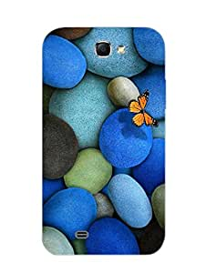 Samsung Note 2 Back Cover - Blue Pebbles - Designer Printed Hard Shell Case