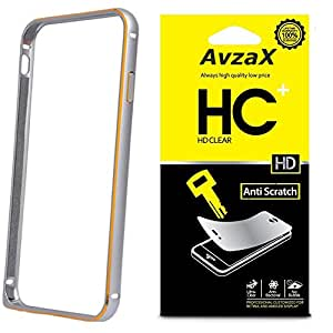 Avzax Bumper Cover For Samsung GALAXY S4 (Silver) + Clear Screen Guard