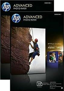 HP Advanced Glossy Photo Paper-25 sht/10 x 15 cm borderless - Twin Pack