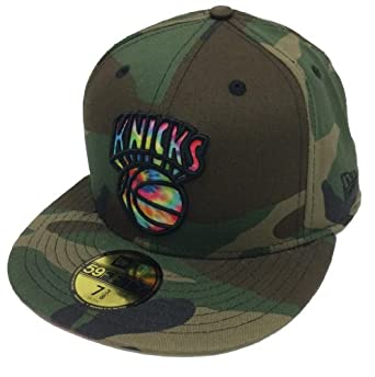 New Era 59Fifty Camcolor Swirl New York Knicks Woodland Camo Fitted Cap by New Era