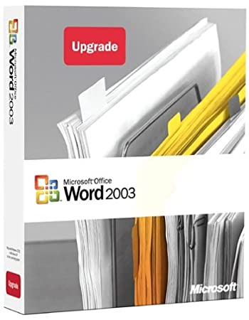 Microsoft Word 2003 Upgrade [OLD VERSION]