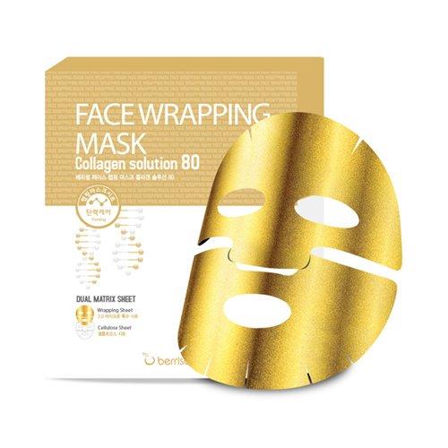 berrisom gesichtsmasken gold mit collagen face wrapping mask 5 x goldene anti aging masken. Black Bedroom Furniture Sets. Home Design Ideas