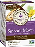 Traditional Medicinals Chocolate Smooth Move Herbal Tea, 16-Count Wrapped Tea Bags (Pack of 6)