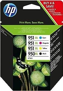 HP 950XL/951XL 4er-Pack Schwarz/Cyan/Magenta/Gelb Original Tintenpatronen mit hoher Reichweite