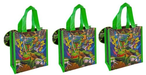 TMNT Ninja Turtle Mini Tote Bag Party Bag x 3