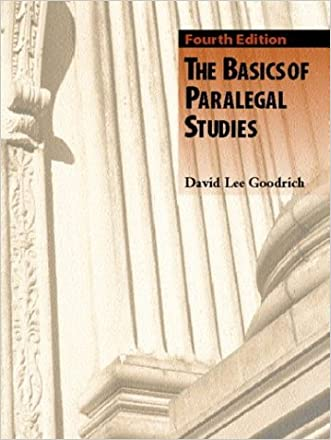 The Basics of Paralegal Studies (4th Edition)