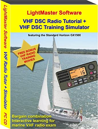 Marine VHF DSC Radio Training Software. Tutor Program + Practice Simulator