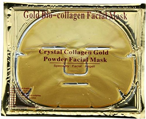 Gold Collagen Face Mask - Anti Aging, Wrinkles, Moisturising, Blemishes, Firming, Toning and Smoothing Skin