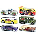 King Featured Syndicate Comics Hot Wheels Nostalgia Set 2013 Popeye, Beetle Bailey, Flash Gordon, Felix the Cat, Hagar the Horrible Comic Strip Cars in PROTECTIVE CASES (Color: white, purple, yellow, red, green, brown, beige)