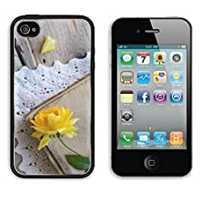 buy Msd Apple Iphone 4 Iphone 4S Aluminum Plate Bumper Snap Case Decoration With Yellow Rose Laying Upon Vintage Book On Lace Doily Image 21976143