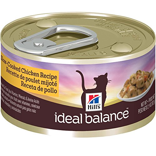 Hill's Ideal Balance Adult Slow-Cooked Chicken Recipe Canned Cat Food, 2.9 oz, 24-Pack (Hills Canned Cat Food compare prices)
