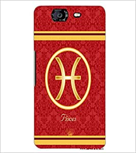 PrintDhaba Zodiac Pisces D-2730 Back Case Cover for MICROMAX A350 CANVAS KNIGHT (Multi-Coloured)