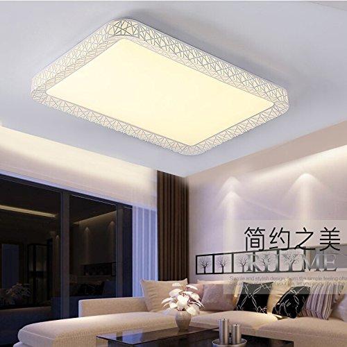 BLYC- Modern minimalist bedroom lamp light Nordic creative ceiling lamp Ferro da stiro rettangolare a forma di fiore doppia plafoniera a LED , 63*63cm