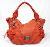 Hot Sale Stubbed Designer Inspired Fashion Shoulder Purse for Women Girl Handbag Fitted with Spacious Compartment From Nyc Inspired (Orange)